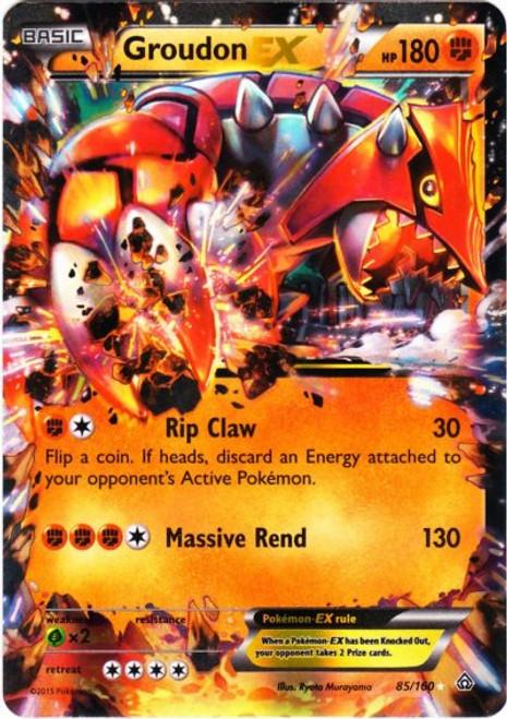 Pokemon X & Y Primal Clash Ultra Rare Groudon EX #85