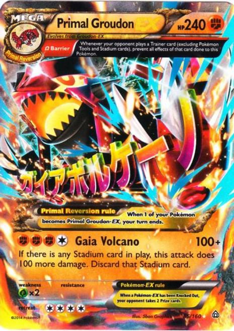 Pokemon X & Y Primal Clash Ultra Rare Primal Groudon EX #86