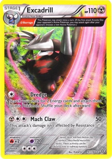 Pokemon X & Y Primal Clash Rare Holo Excadrill #97