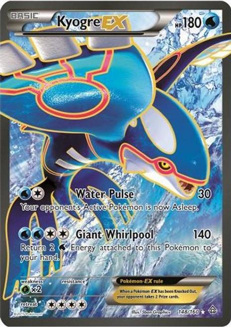 Pokemon X & Y Primal Clash Ultra Rare Kyogre EX #148