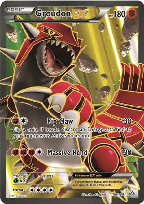 Pokemon X & Y Primal Clash Ultra Rare Groudon EX #150