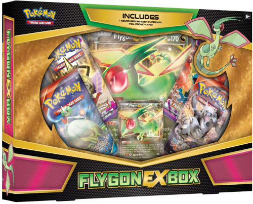 Pokemon Trading Card Game XY Flygon EX Box [4 Booster Packs, Promo Card & Oversize Card!]