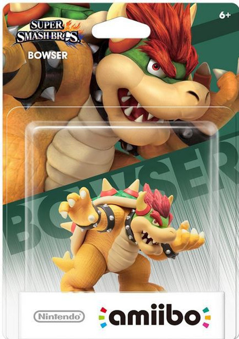 Nintendo Super Mario Super Smash Bros Amiibo Bowser Mini Figure