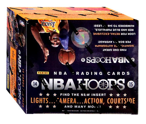 NBA Panini 2014-15 Hoops Basketball Trading Card RETAIL Box [10 Packs, 1 Autograph OR Memorabilia Card!]