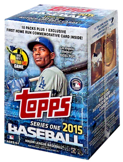MLB Topps 2015 Series 1 Baseball Trading Card BLASTER Box [10 Packs + 1 Home Run Card!]