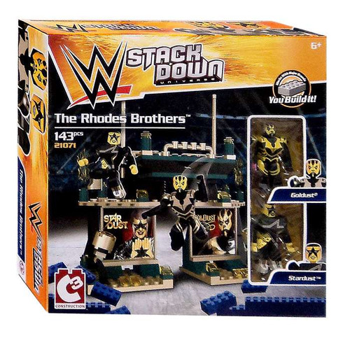 WWE Wrestling C3 Construction StackDown The Rhodes Brothers Playset #21071