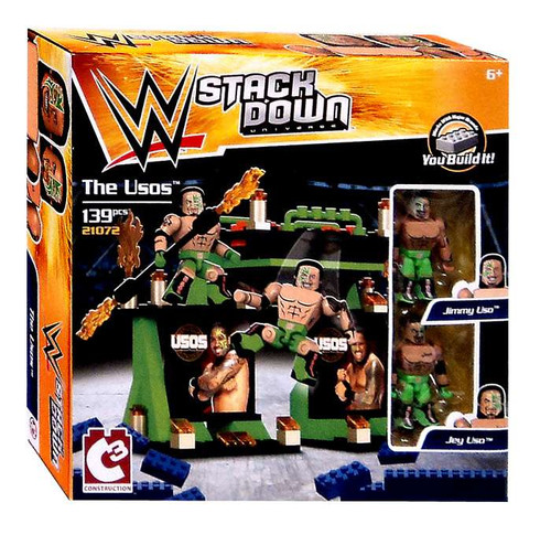WWE Wrestling C3 Construction StackDown The Usos Playset #21072