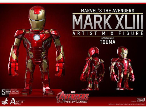 Marvel Avengers Age of Ultron Artist Mix Figure Series 1 Iron Man Mark XLIII Action Figure