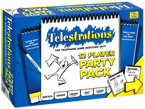 Telestrations Board Game [12 Player Party Pack]
