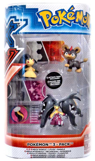 Pokemon XY Mega Mawile, Litleo & Mawile Figure 3-Pack
