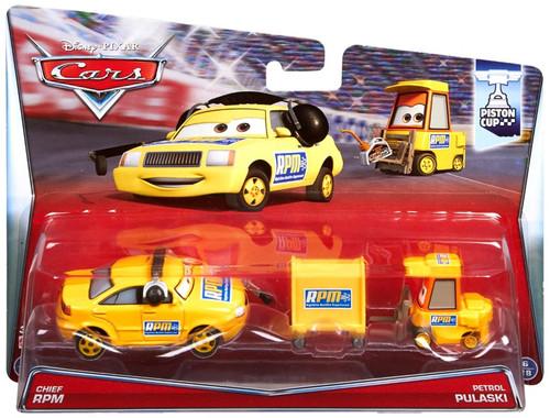 Disney / Pixar Cars Piston Cup Chief RPM & Petrol Pulaski Diecast Car 2-Pack #5/18 & 6/18