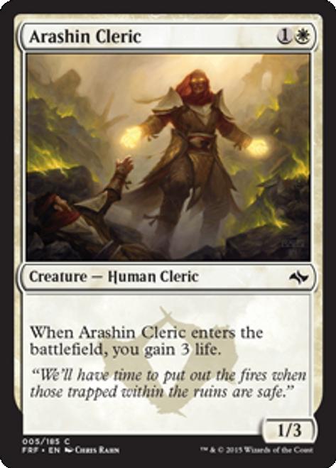 MtG Fate Reforged Common Foil Arashin Cleric #5