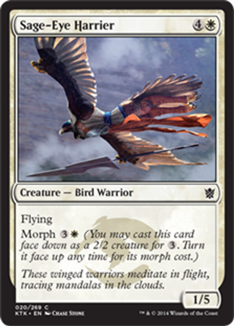 MtG Khans of Tarkir Common Foil Sage-Eye Harrier #20