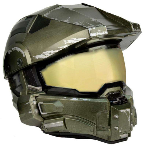 NECA Halo Master Chief's Motorcycle Helmet Roleplay Toy [Medium (57-58cm)]