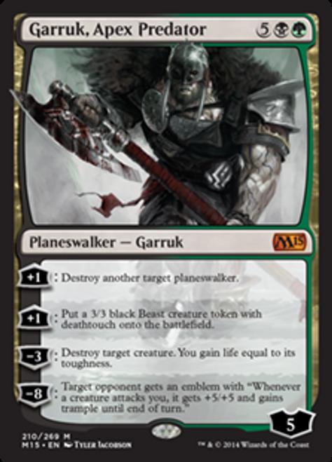 MtG 2015 Core Set Mythic Rare Garruk, Apex Predator #210 [Chinese]
