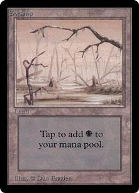 MtG Beta Basic Land Swamp [Slightly Played, RANDOM Artwork] [Slightly Played]
