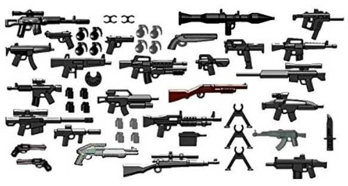 BrickArms Ultimate Urban Assault & Recovery Weapons Pack [50 pieces]