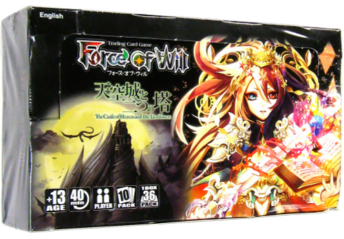 Force of Will Grimm Cluster Set 2 The Castle of Heavens and the Two Towers Booster Box [36 Packs]