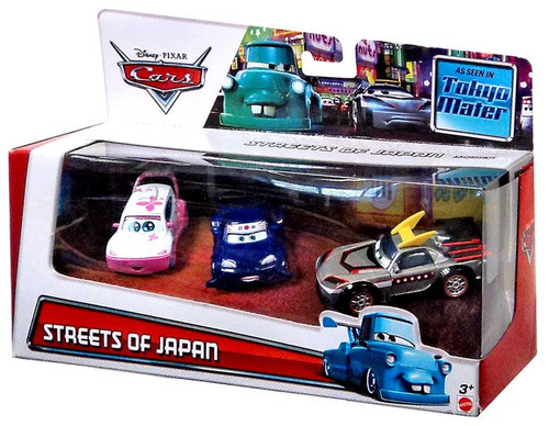 Disney / Pixar Cars Multi-Packs Streets of Japan Exclusive Diecast Car 3-Pack