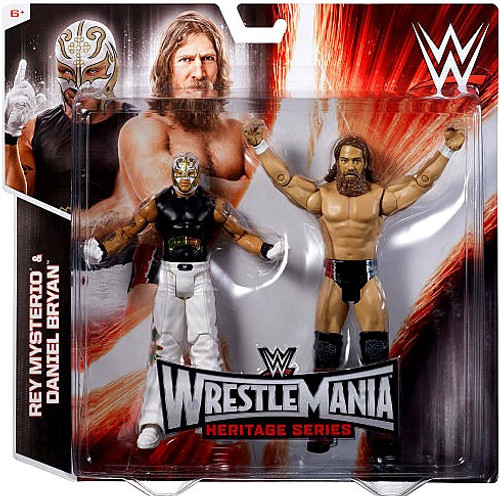 WWE Wrestling Battle Pack WrestleMania Heritage Rey Mysterio & Daniel Bryan Exclusive Action Figure 2-Pack