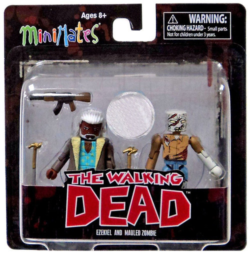 The Walking Dead Comic Minimates Series 7 Ezekiel and Mauled Zombie Exclusive Minifigure 2-Pack
