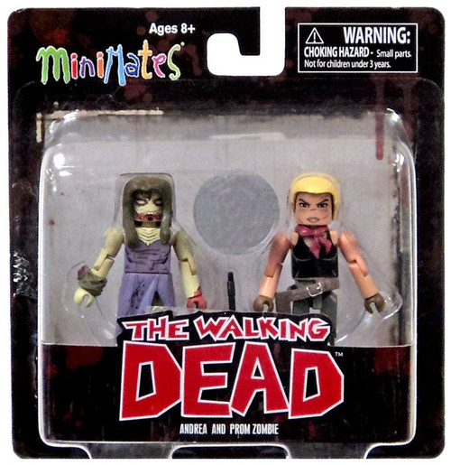 The Walking Dead Comic Minimates Series 7 Andrea and Prom Zombie Exclusive Minifigure 2-Pack