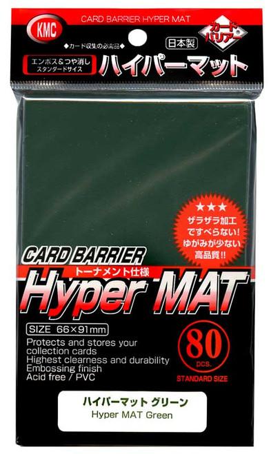 Card Barrier Hyper MAT Green Standard Card Sleeves [80 Count]