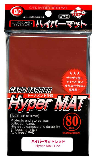Card Barrier Hyper MAT Red Standard Card Sleeves [80 Count]