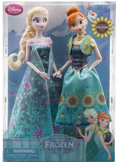 Disney Frozen Frozen Fever Anna & Elsa Exclusive 12-Inch Doll 2-Pack [Summer Solstice]