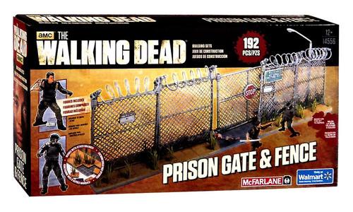 McFarlane Toys The Walking Dead Prison Gate & Fence Exclusive Building Set #14556