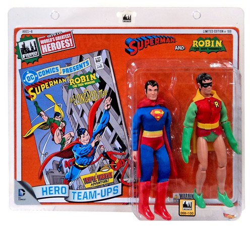 DC World's Greatest Super Heroes Retro Two-Pack Series 2 Superman & Robin Retro Action Figures