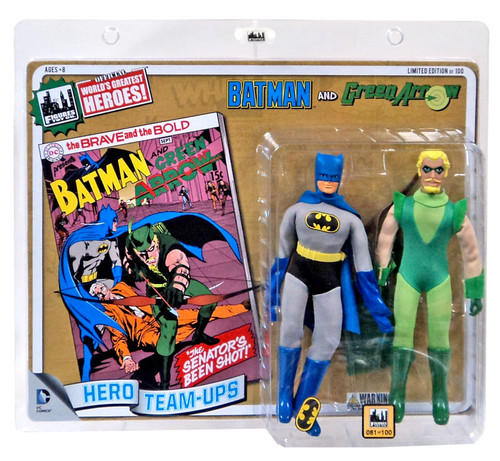 DC World's Greatest Super Heroes Retro Two-Pack Series 2 Batman & Green Arrow Retro Action Figures