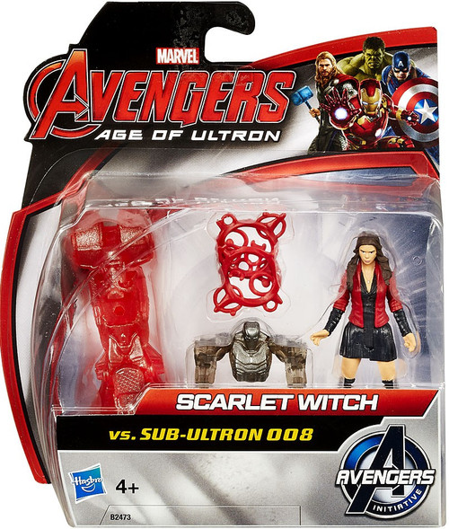 Marvel Avengers Age of Ultron Scarlet Witch vs. Sub Ultron 008 Action Figure 2-Pack