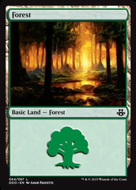 MtG Magic: The Gathering Duel Decks: Kiora vs. Elspeth Land Forest #63