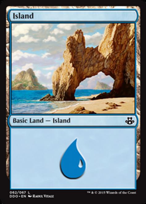 MtG Magic: The Gathering Duel Decks: Kiora vs. Elspeth Land Island #60