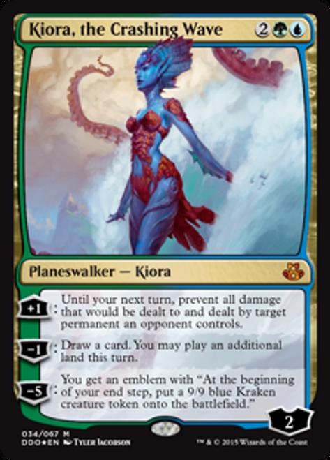 MtG Magic: The Gathering Duel Decks: Kiora vs. Elspeth Mythic Rare Kiora, the Crashing Wave #34
