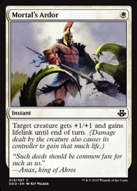 MtG Magic: The Gathering Duel Decks: Kiora vs. Elspeth Common Mortal's Ardor #19