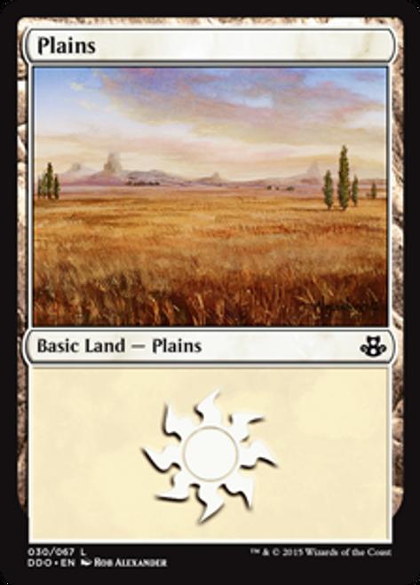 MtG Magic: The Gathering Duel Decks: Kiora vs. Elspeth Land Plains #30