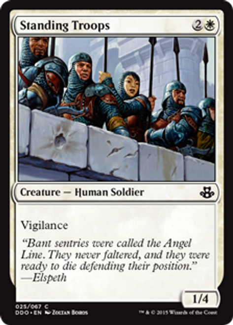 MtG Magic: The Gathering Duel Decks: Kiora vs. Elspeth Common Standing Troops #25