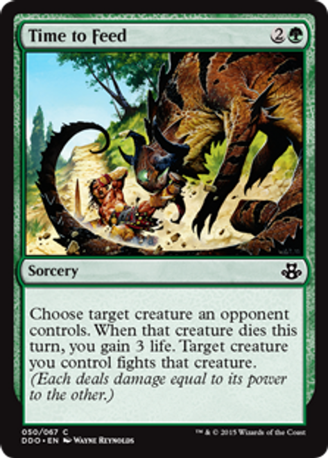 MtG Magic: The Gathering Duel Decks: Kiora vs. Elspeth Common Time to Feed #50