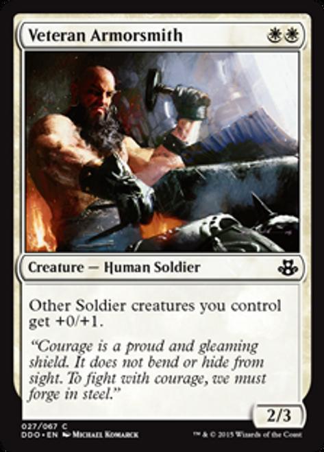 MtG Magic: The Gathering Duel Decks: Kiora vs. Elspeth Common Veteran Armorsmith #27