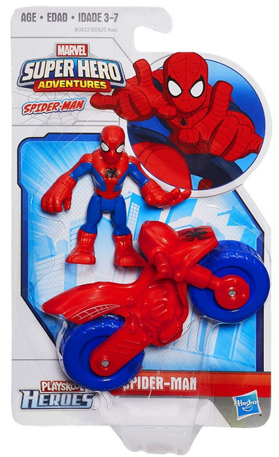 Marvel Playskool Heroes Super Hero Adventures Spider-Man Action Figure Set
