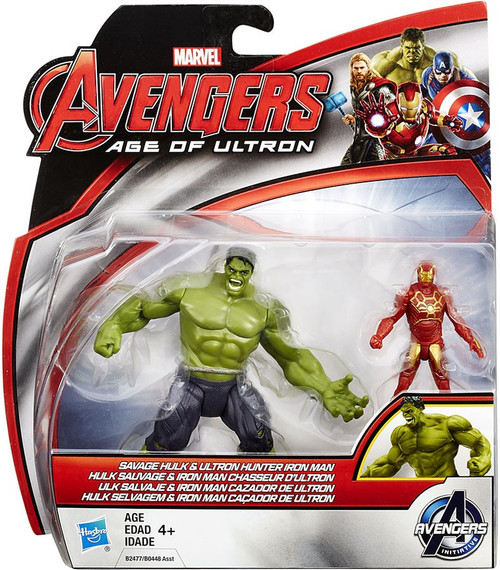 Marvel Avengers Age of Ultron Savage Hulk & Ultron Hunter Iron Man 2.5-Inch