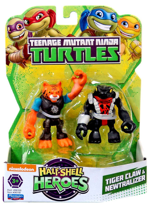 Teenage Mutant Ninja Turtles TMNT Half Shell Heroes Tiger Claw & Newtralizer Action Figure 2-Pack