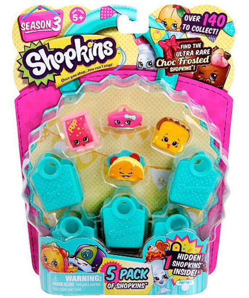 Shopkins Season 3 Mini Figure 5-Pack