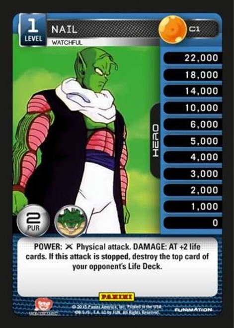 Dragon Ball Z Heroes & Villains Common Nail, Watchful C1