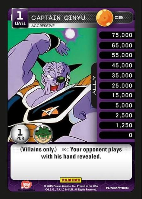 Dragon Ball Z CCG Heroes & Villains Common Captain Ginyu, Aggressive C9