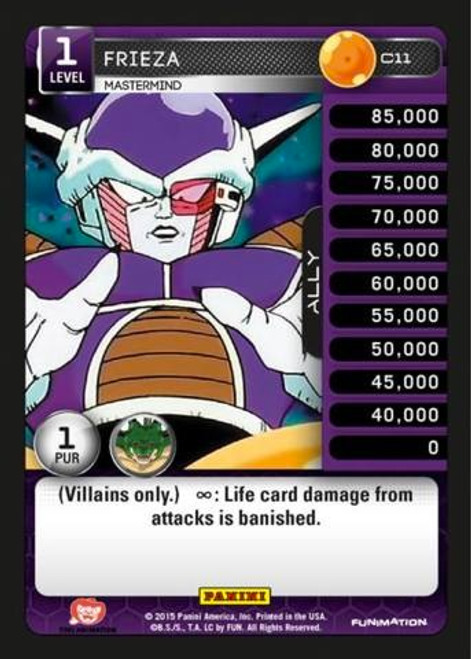 Dragon Ball Z CCG Heroes & Villains Common Frieza, Mastermind C11