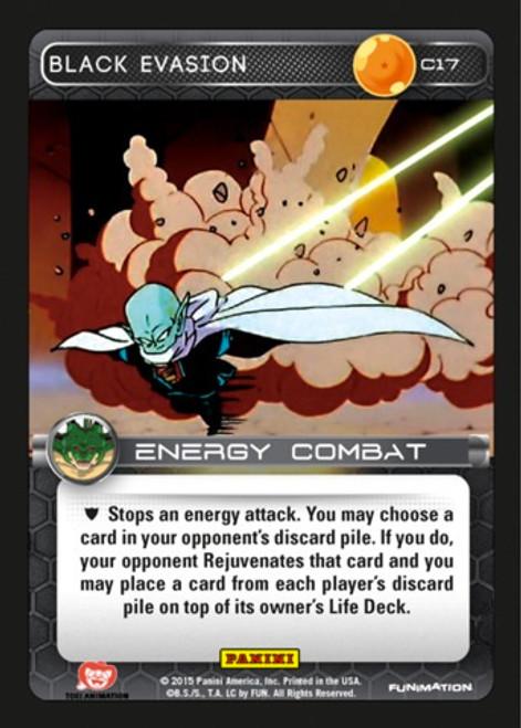 Dragon Ball Z CCG Heroes & Villains Common Black Evasion C17