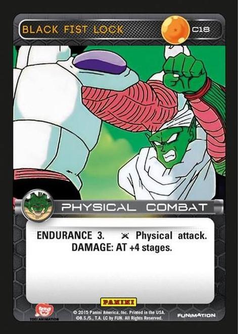 Dragon Ball Z CCG Heroes & Villains Common Black Fist Lock C18